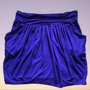 BCBGMAXAZRIA Purple Pleated Grecian Mini Skirt XS